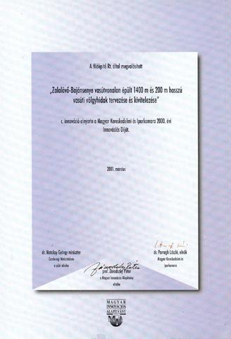 A Magyar Kereskedelmi és Iparkamara Innovációs Díj 2000