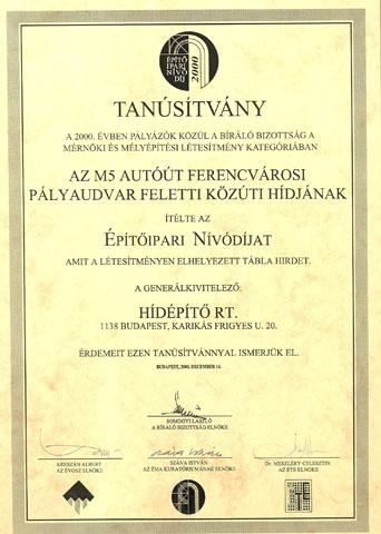Építőipari Nívódíj 2000