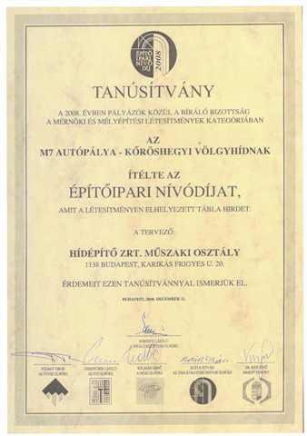 Építőipari Nívódíj 2008